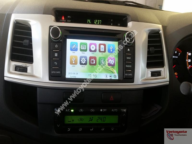 Toyota Hilux/Fortuner 2012-2015 GPS Navigation + Free Maps & Colour Reverse  Camera