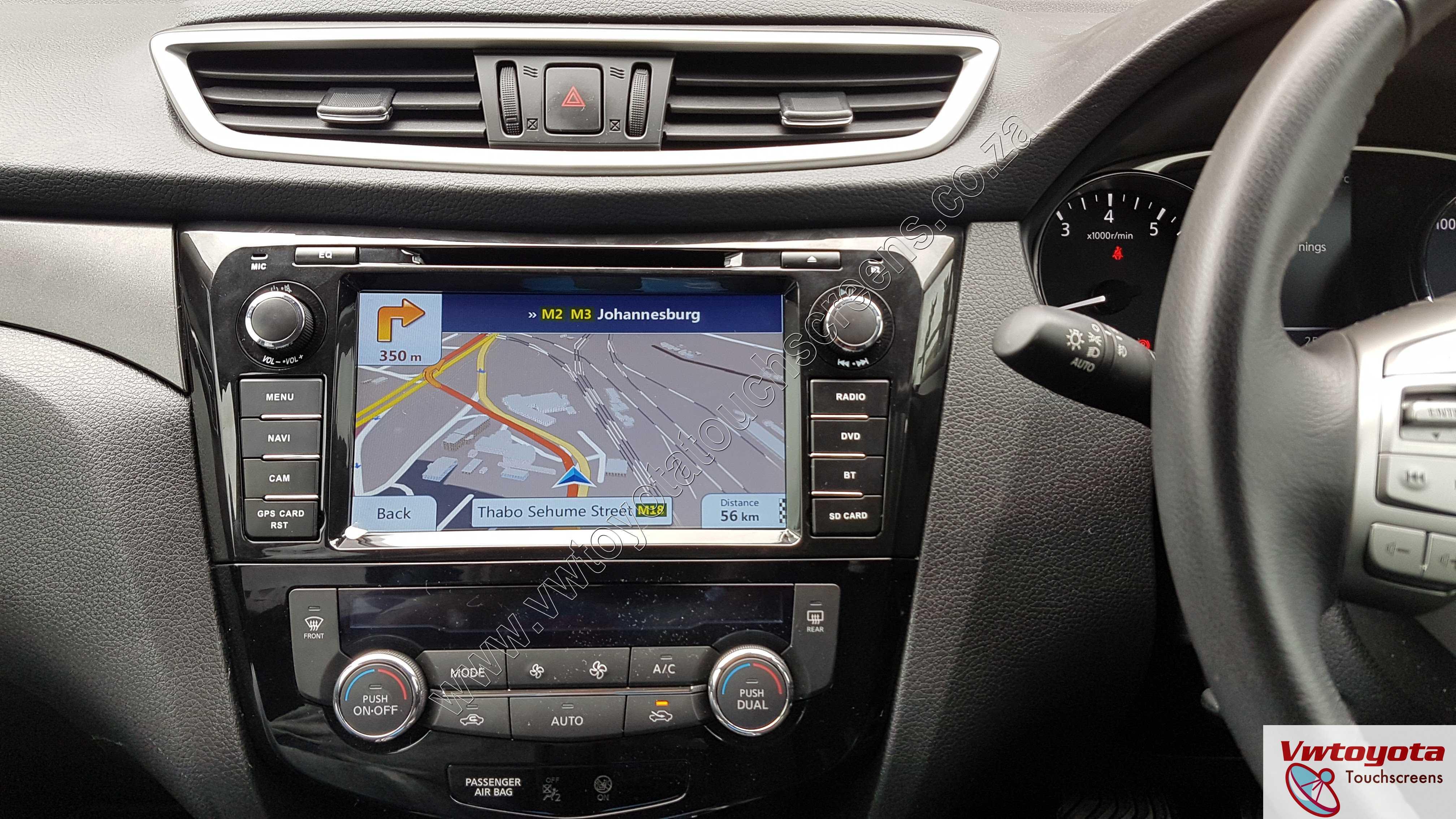 Nissan X-Trail / Qashqai (2014-2018) GPS DVD GPS touch screen unit, FREE  Maps & Reverse Camera