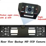 For-CCD-HD-car-rear-view-camera-backup-reverse-Universal-camera-European-License-Plate-Frame-night